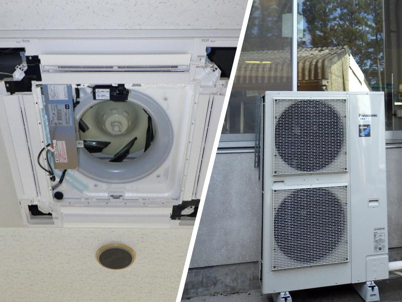 業務用エアコン・室外機の設置