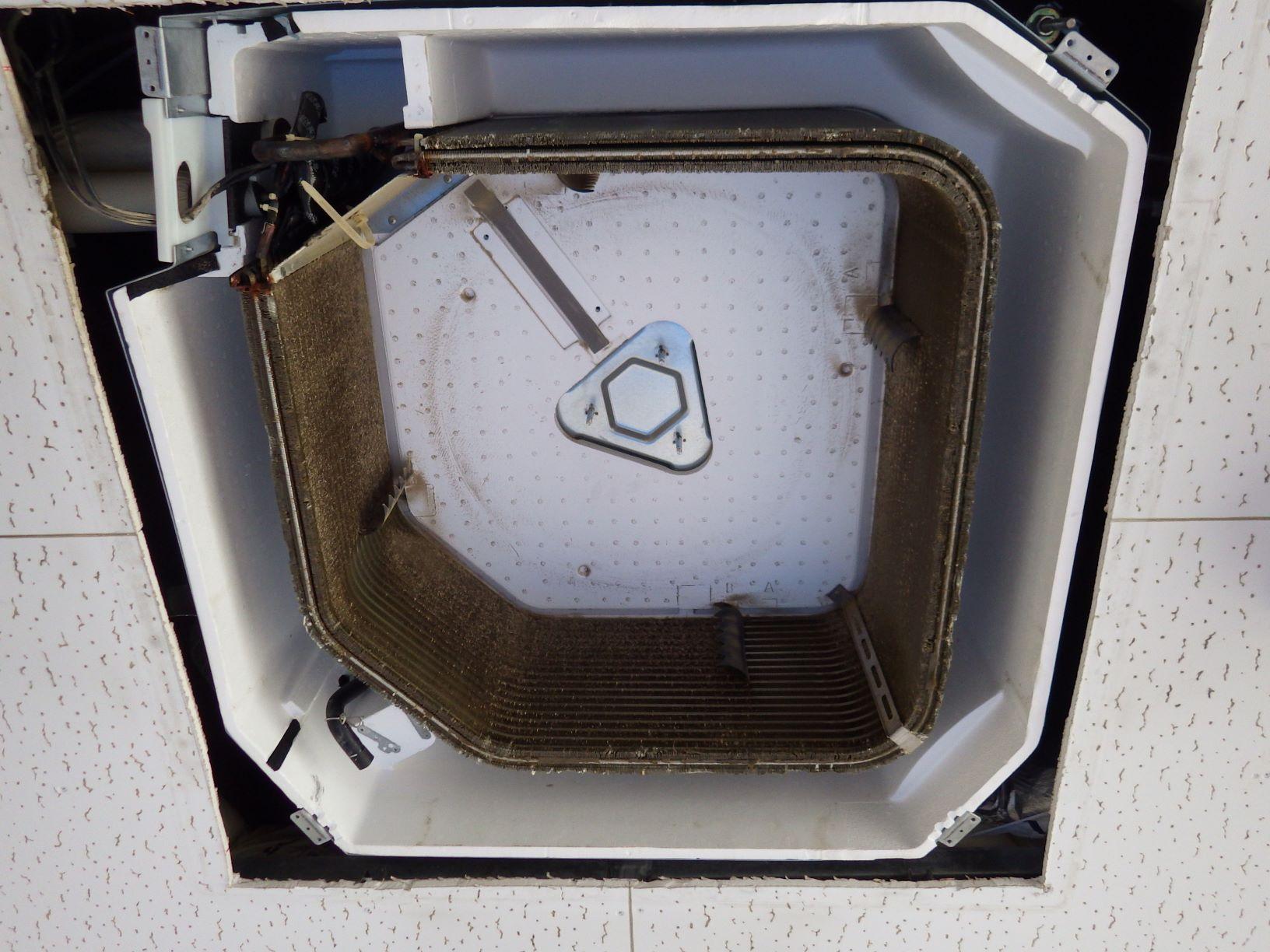 熱交換器の酷い汚れ